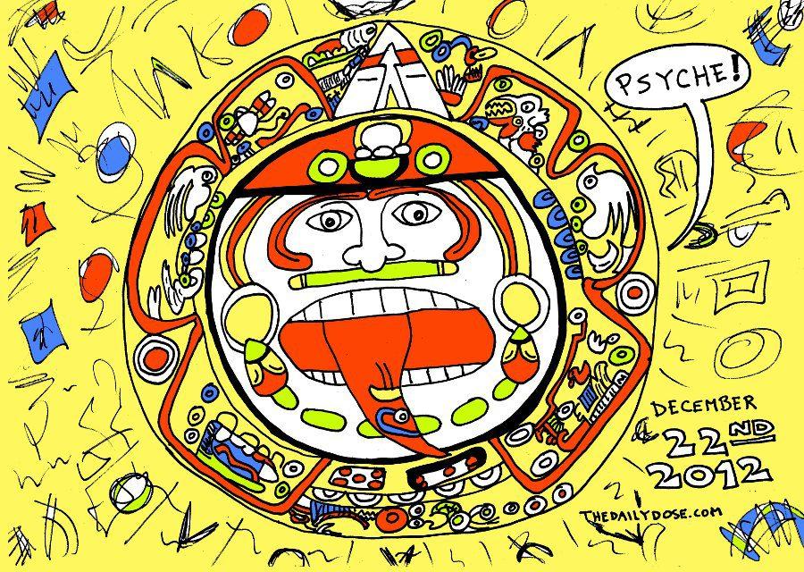 The Day After The Mayan Calendar Editorial Cartoon