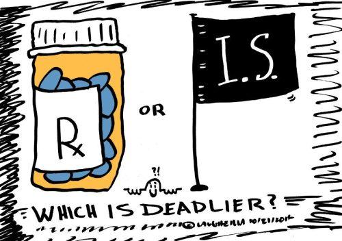 Islamic State versus Meds editorial cartoon
