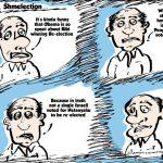 bibi's big win editorial comic