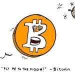 caricature bitcoin (BTC) financial comics june 14, 2019 by laughzilla for the daily dose