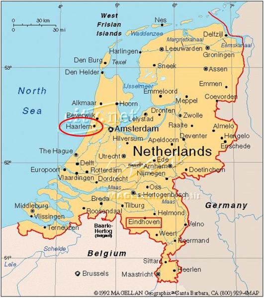 haarlem location on the netherlands map » Another Maps [Get Maps on ...