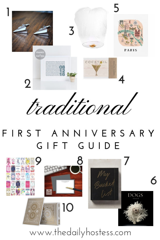 10 First Anniversary Gift Ideas The Daily Hostess