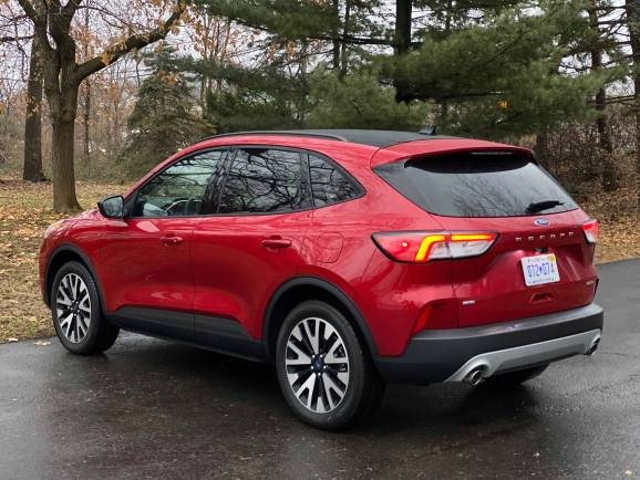 2020 ford escape red driver rear