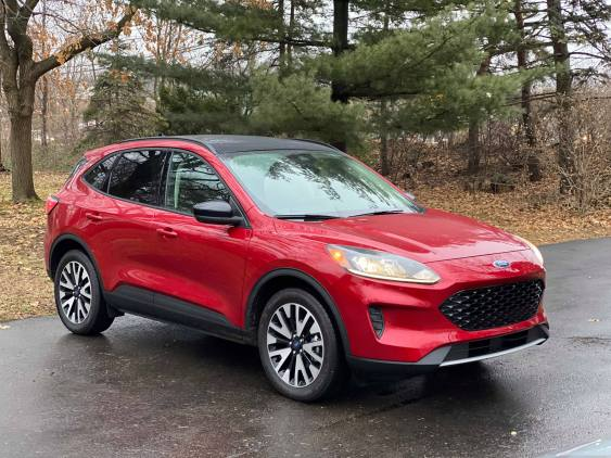 2020 Ford Escape SE Sport Hybrid Passenger Front Red