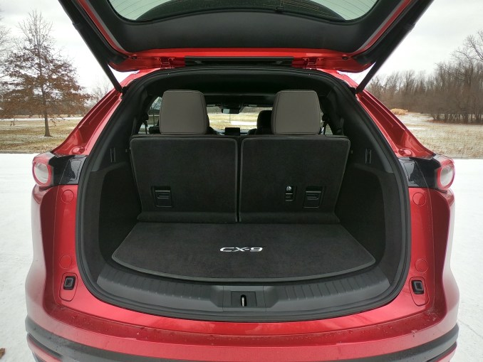 2020 Mazda CX-9 Red Cargo Seats Up