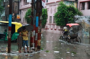 Early morning monsoon in Kashi, India