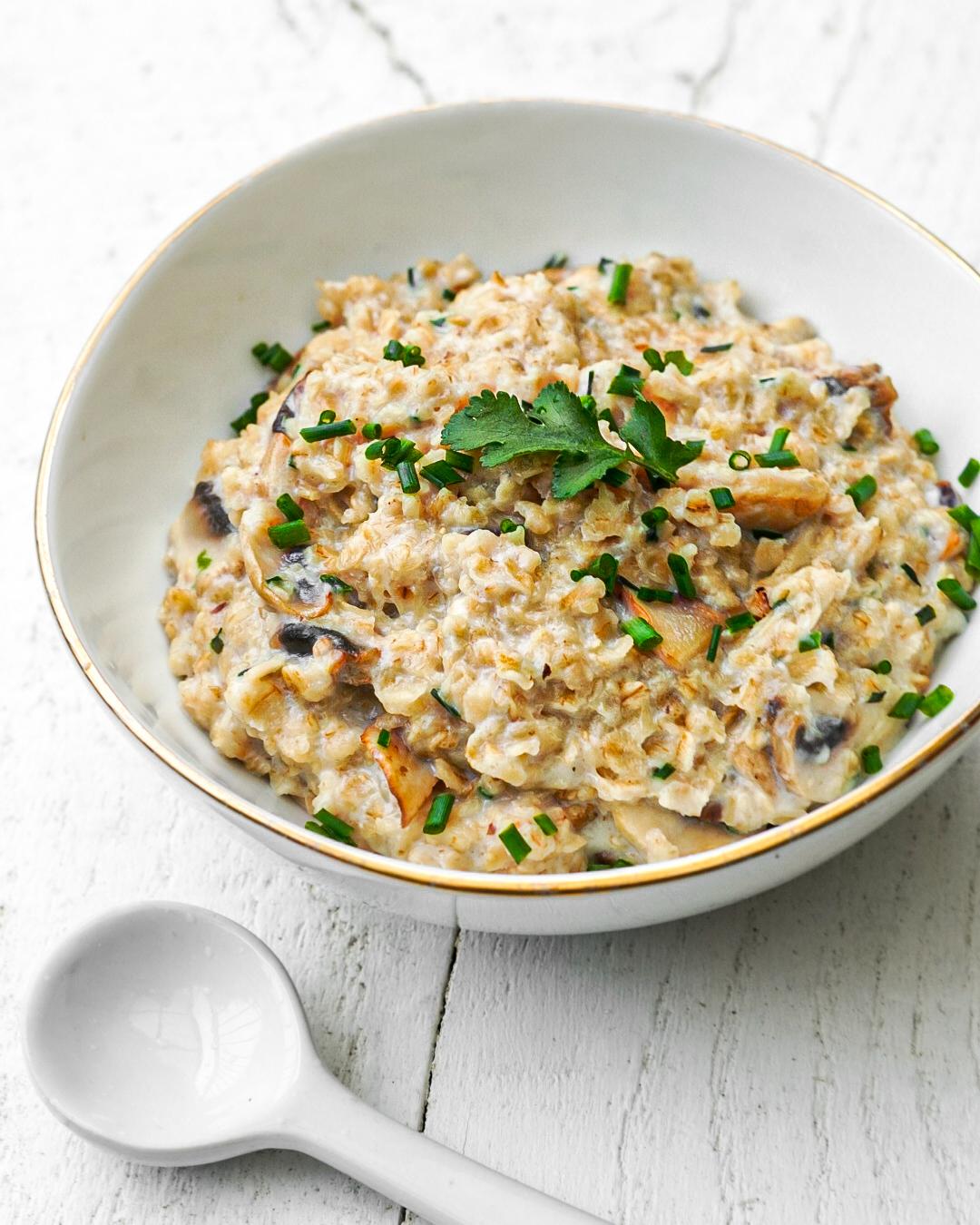 recette porridge salé champignons facile rapide express healthy