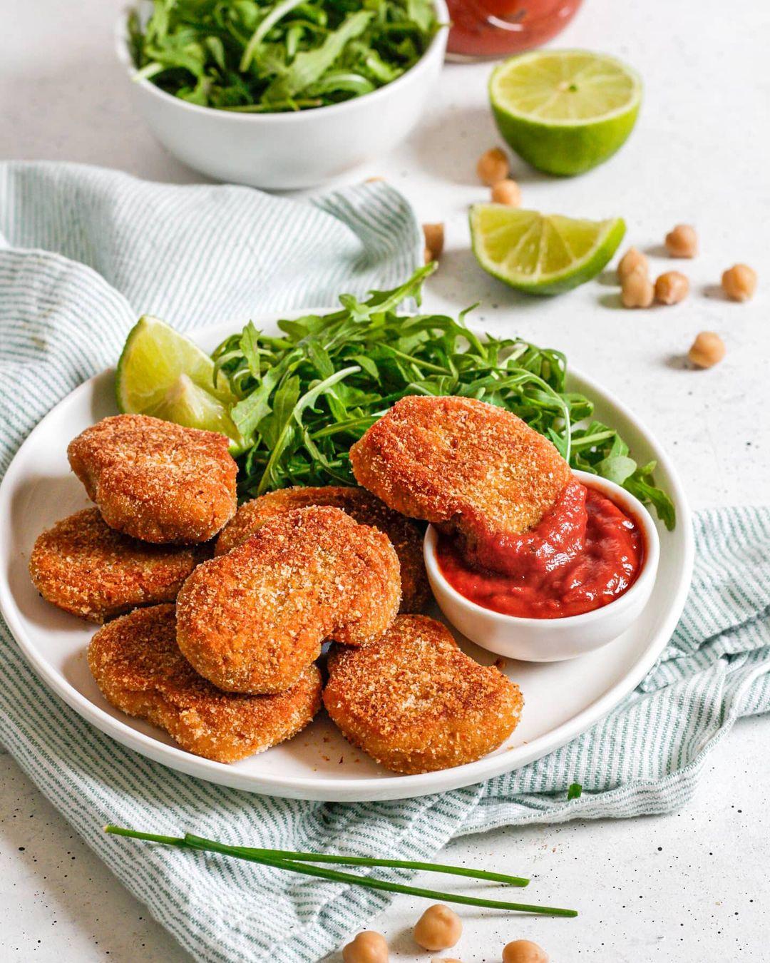 Recette veggie de nuggets de pois chiches facile