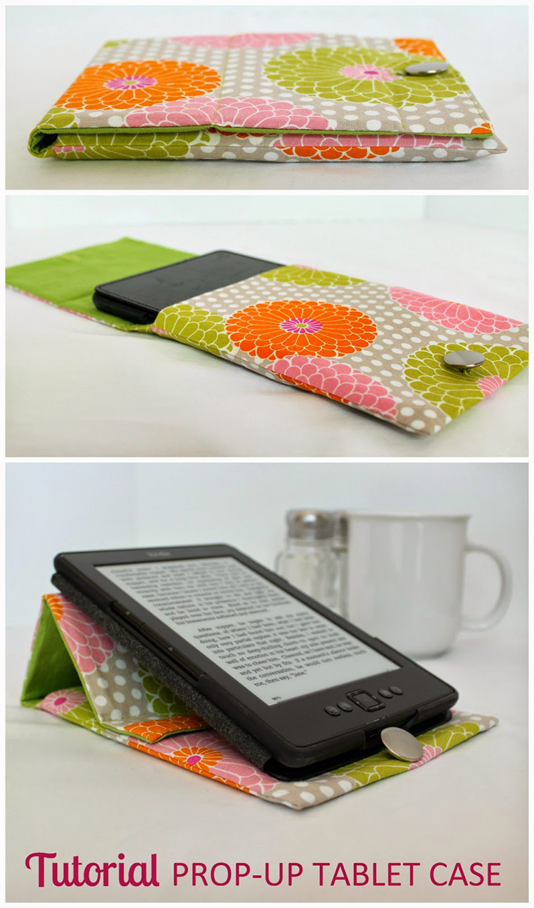 "DIY iPad cover and stand. Put this on your ""to make"" list!"