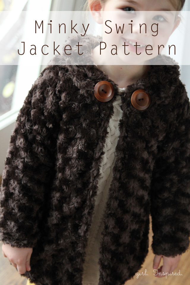 Free Pattern for this Minky Jacket - so snuggly and adorable!