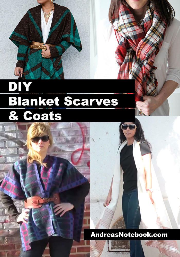 10 DIY blanket coats and scarves