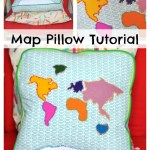 World Map Pillow Tutorial