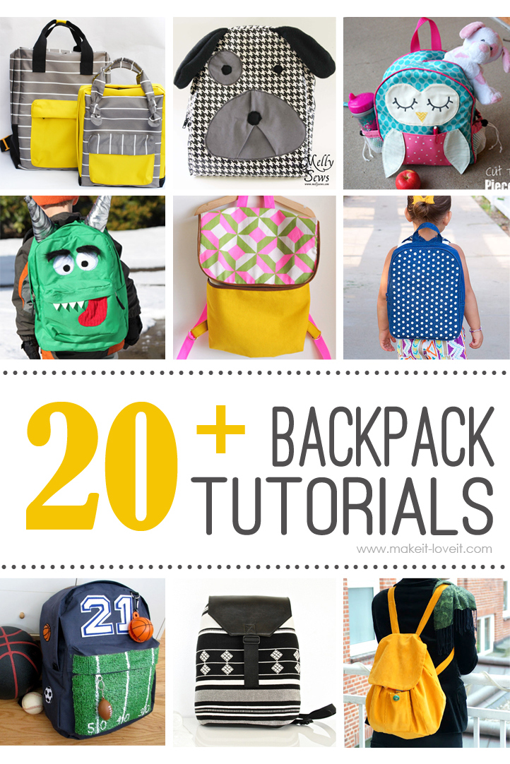 20+ Backpack tutorials