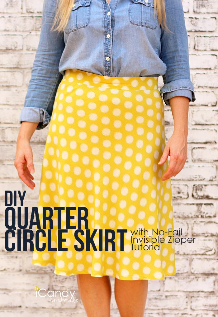 Diy 14 Circle Skirt Sewing Tutorial The Daily Seam