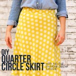 DIY 1/4 Circle Skirt Sewing Tutorial