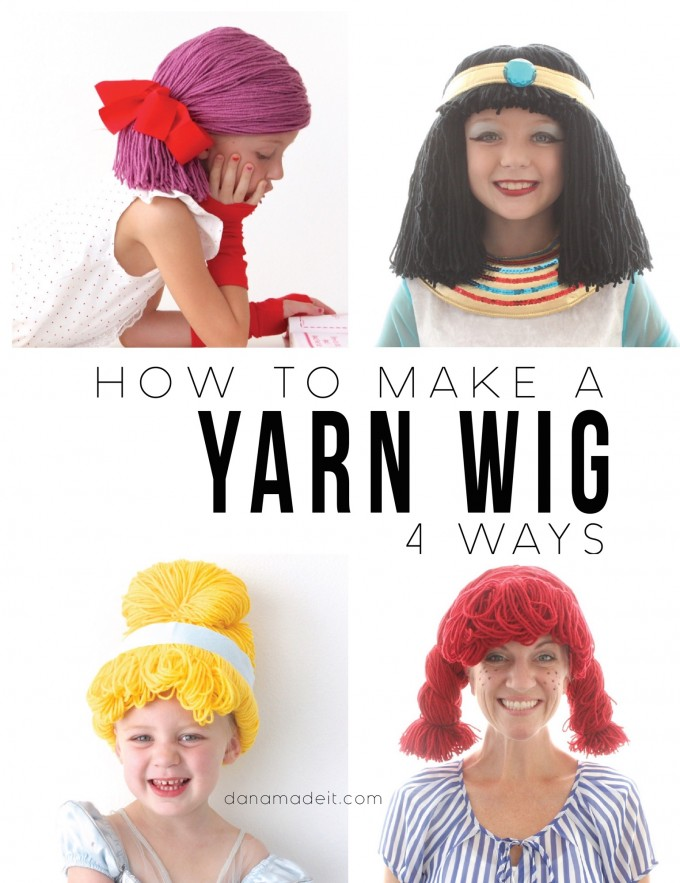 Yarn Wigs for Halloween! - The Daily Seam