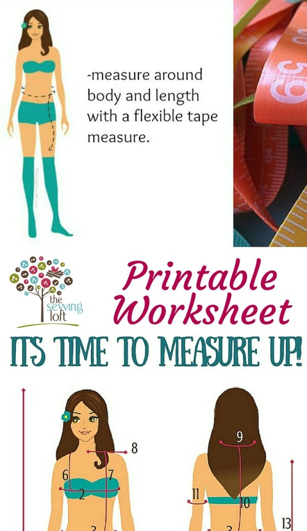 This measure your body before you buy your next pattern with this printable worksheet from The Sewing Loft.