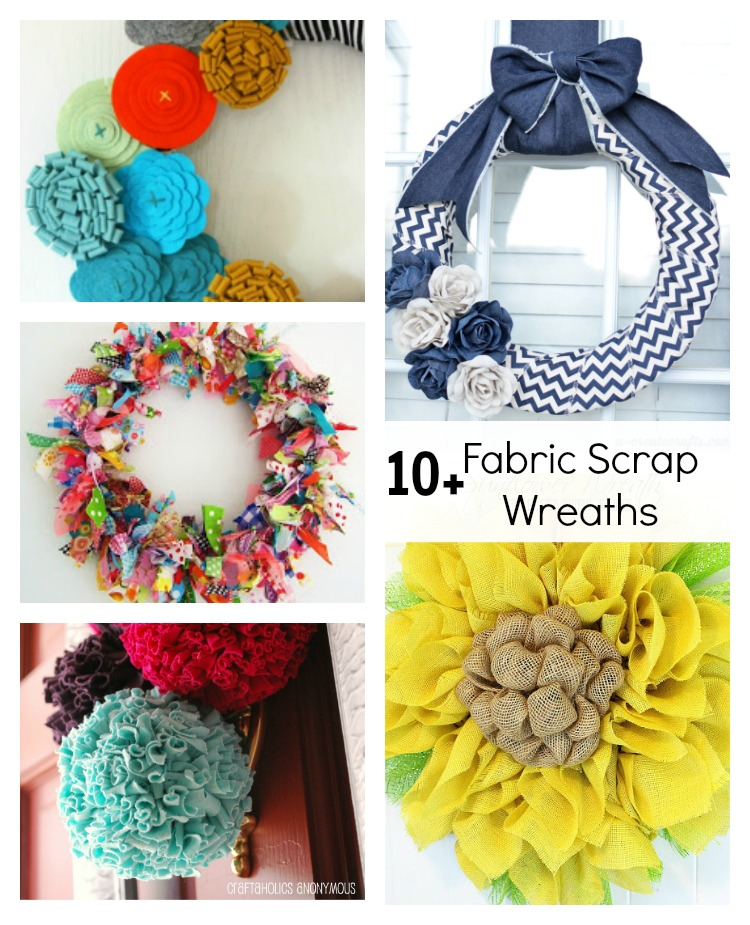Fabric Wreath Tutorials