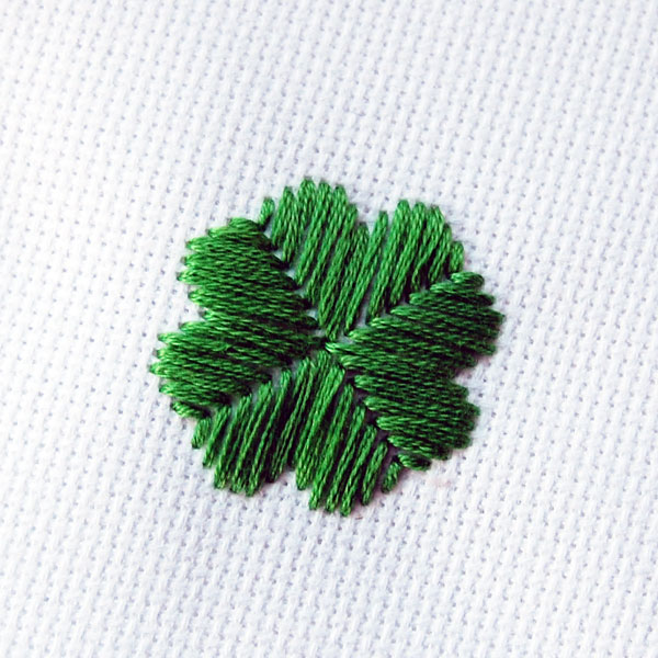 Four Leaf Clover Satin stitch tutorial