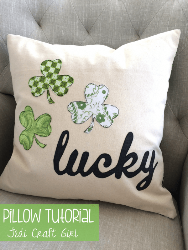 Lucky St. Patrick's Day Pillow Cover - make with a few scraps