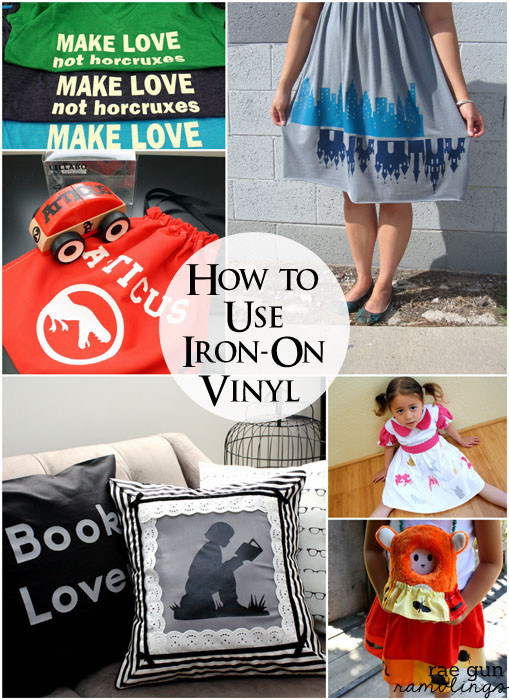 Everything you need to know about using heat transfer vinyl also called iron on vinyl. Perfect for embellishing your home sewing projects