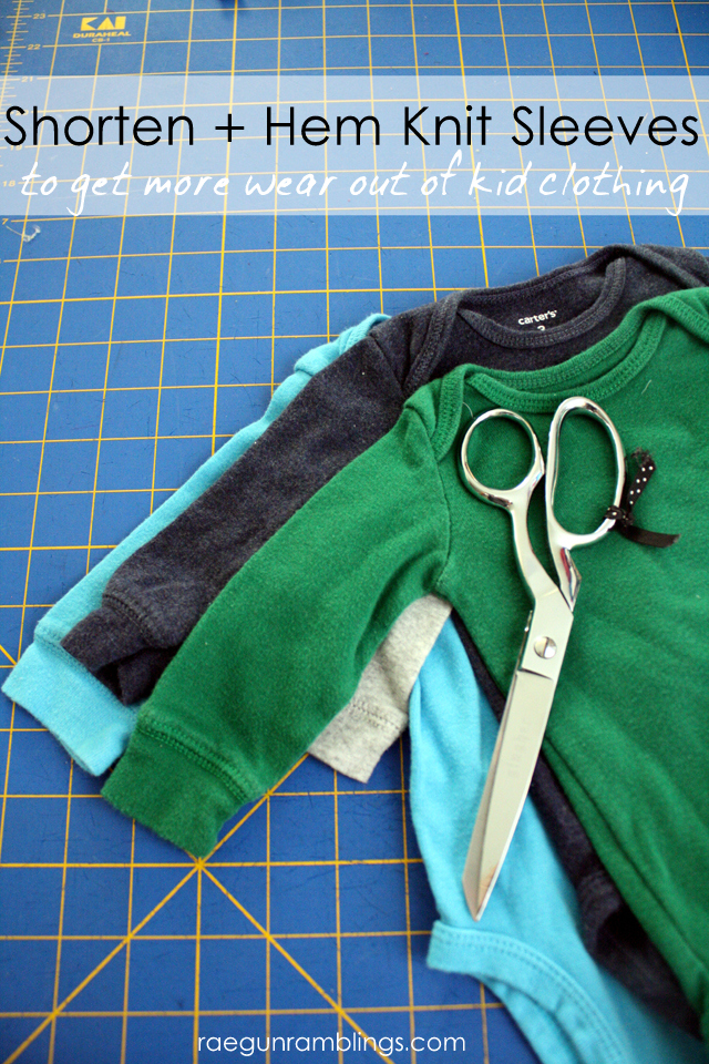 how to alter sleeves. great diy sewing tutorial for hemming sleeves