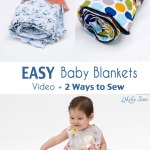 Two Ways to Sew a Baby Blanket