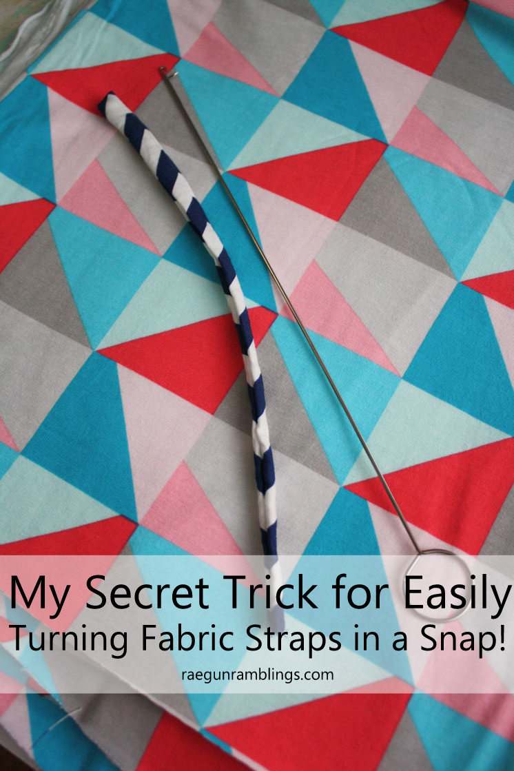 This is the BEST way to quickly and easily turn straps of fabric for sewing and diy projects