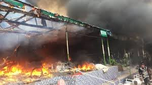 Rage Over Missing Boy and The Burning Down of Church by Akure Youths 3