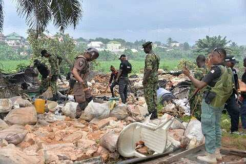 PHOTOS: Hideouts of kidnappers destroyed in Abia 4