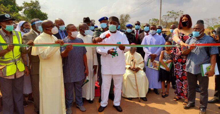 Rural Development: Ugwuanyi inaugurates 12km road in Enugu East LGA 3
