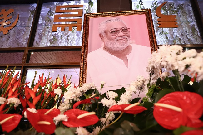 Former Ghanaian president, Jerry Rawlings laid to rest 3