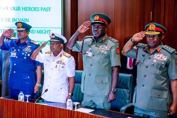 BREAKING: Service Chiefs finally sacked by Buhari, names replacements 3