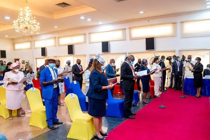 Sanwo-Olu swears in 18 new Perm Secs 3