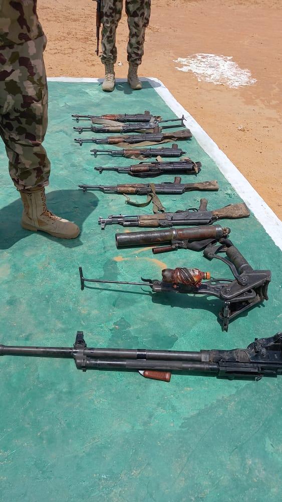 Troops neutralise 21 Bokoharam/ISWAP terrorists, recover gun trucks, assorted weapons 3