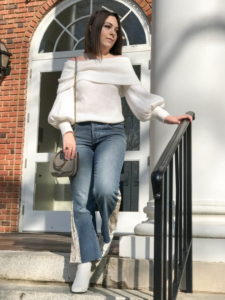 sequin flare jeans 5