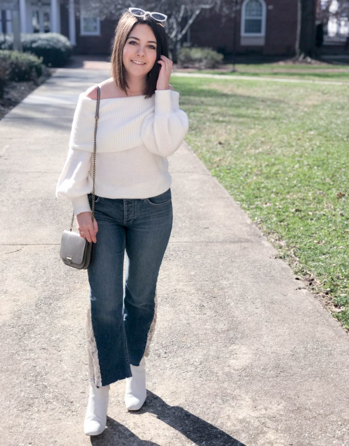 sequin flare jeans 8