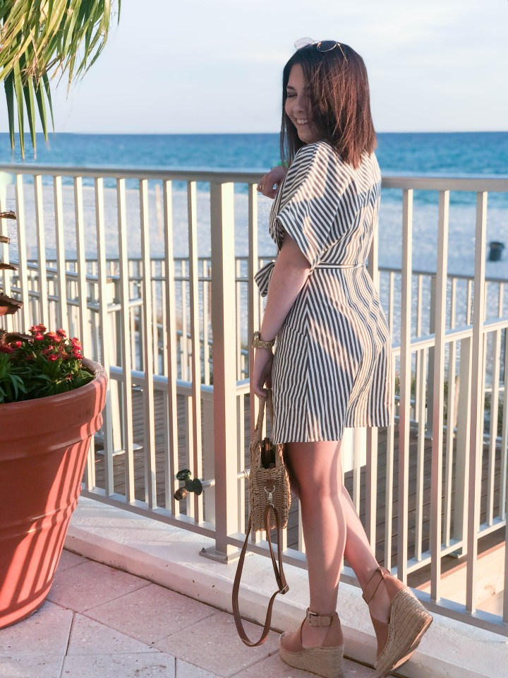 Striped Dress + Panama City Beach