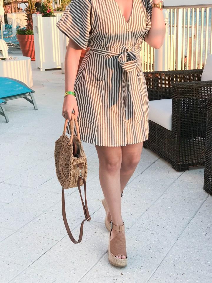 striped dress and panama city beach 3