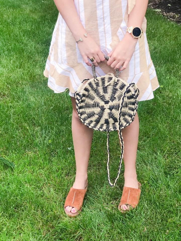Striped Wrap Dress + My Favorite New Shoes