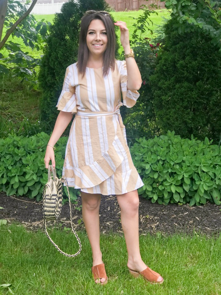 striped wrap dress + my favorite new shoes 7