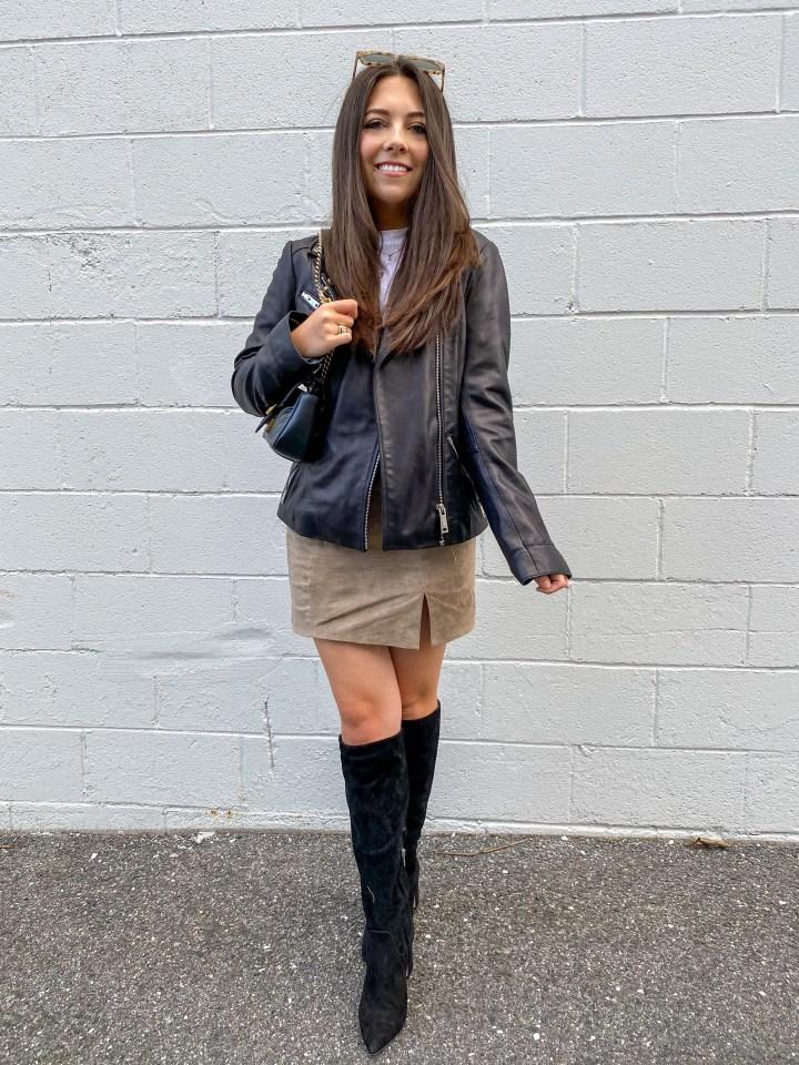 BLANKNYC suede skirt