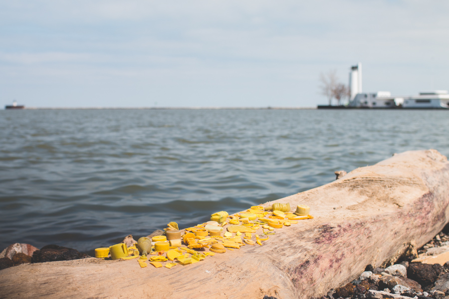 plastic pollution, lake erie,