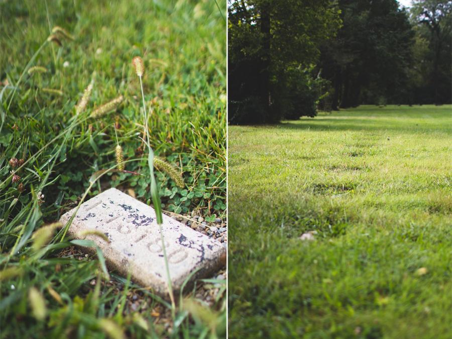 sunken in headstone, numbered headstone, graveyard, columbus