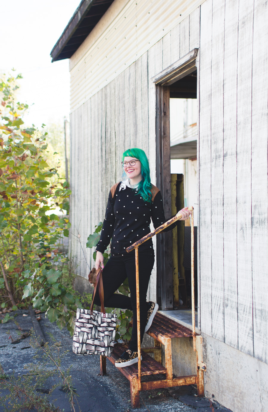 kaylah doolan, green hair, the dainty squid, fashion blog