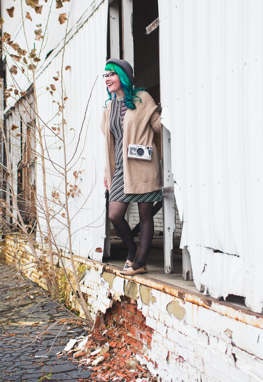cleveland fashion blog, ohio blogger, green hair, what I wore