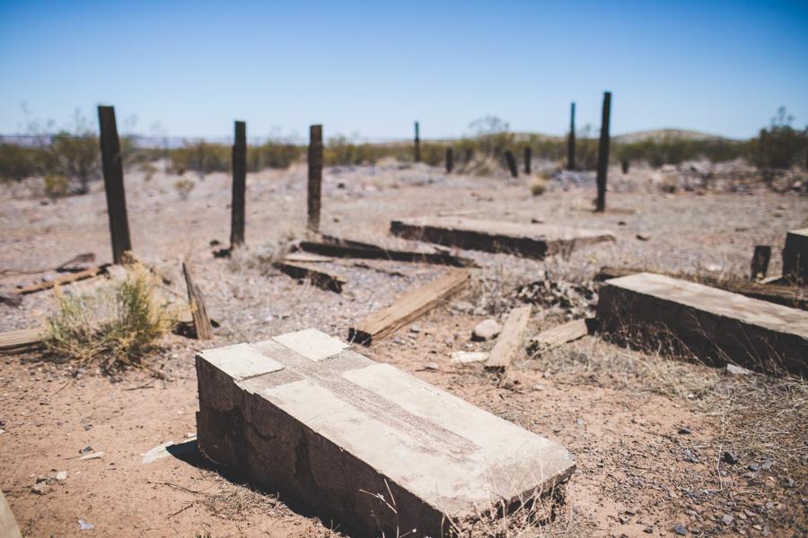desert ghost town cemetery