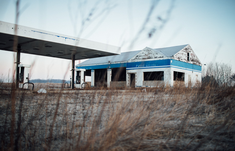 Abandoned gas station in rural Ohio