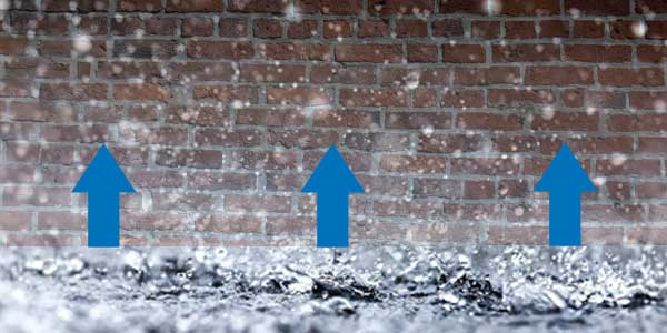 does rising damp get worse when it rains