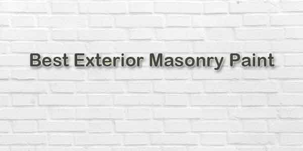 best exterior masonry paint